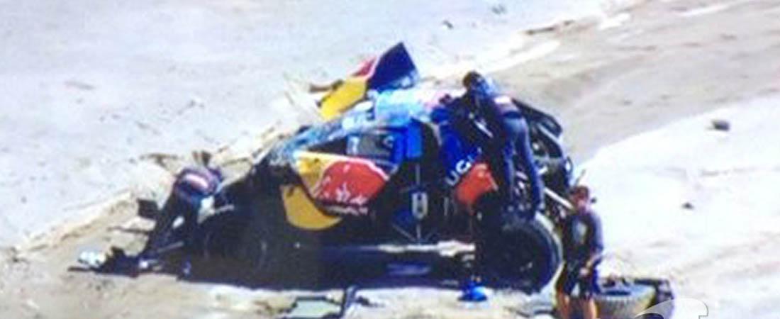 Loeb accidente en Dakar 2016