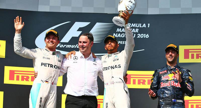 Hamilton gana el GP de Hungria 2016