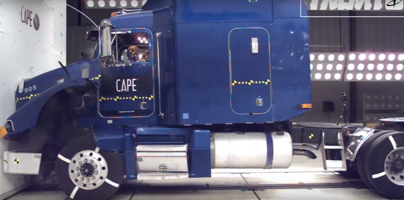 pruebas de choque camiones