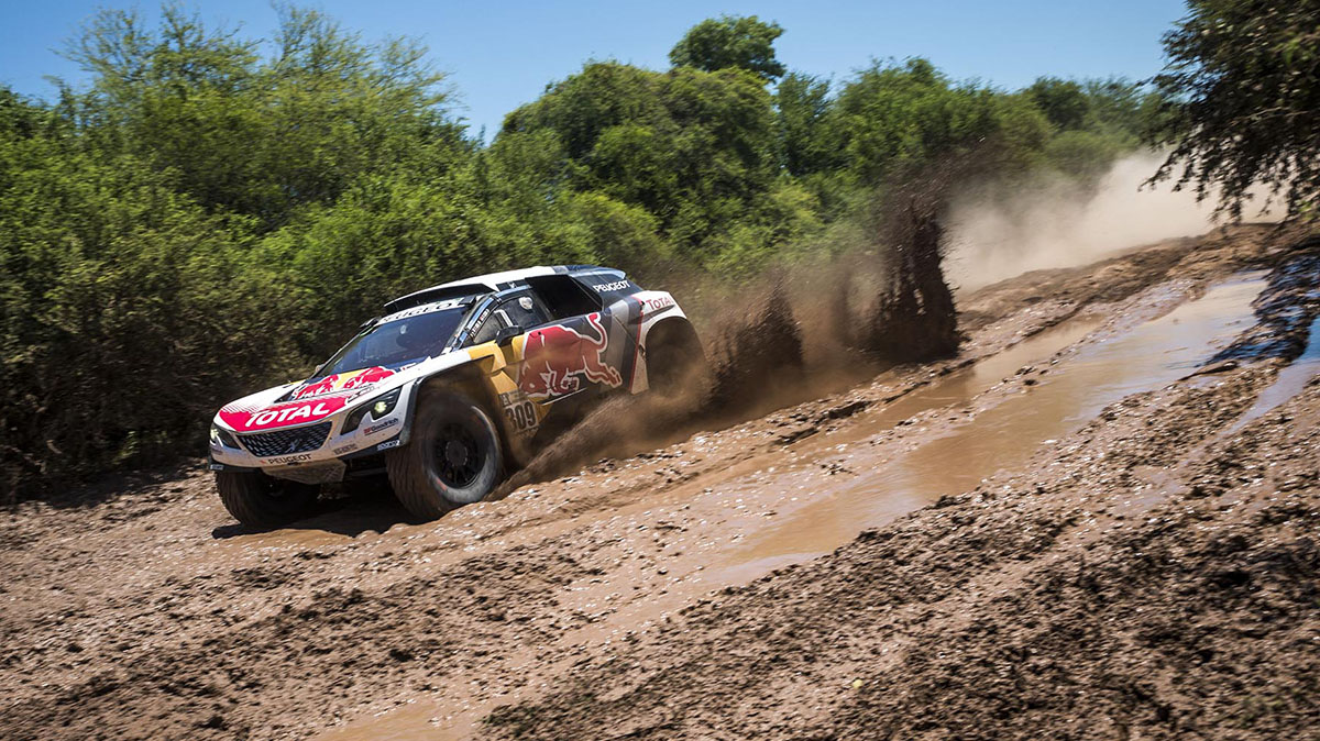 Sebastien Loeb (FRA) of Team Peugeot Total races during stage 02 of Rally Dakar 2017 from Resistencia to Tucuman, Argentina on January 3, 2017 // Marcelo Maragni/Red Bull Content Pool. For more content, pictures and videos like this please go to www.redbullcontentpool.com