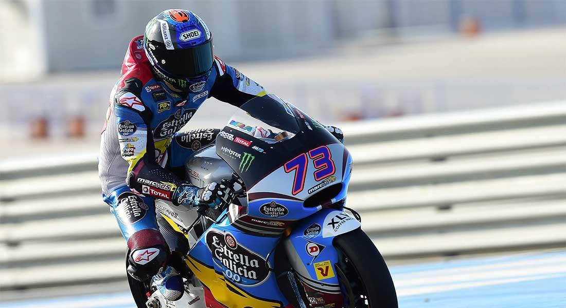 Imagen de Álex Márquez rodando en el Circuito de Jerez/ Marc VDS Estrella Galicia.