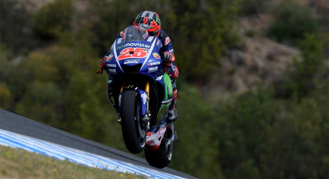 Maverick Viñales saldrá mañana cuarto en Jerez/ Movistar Yamaha.