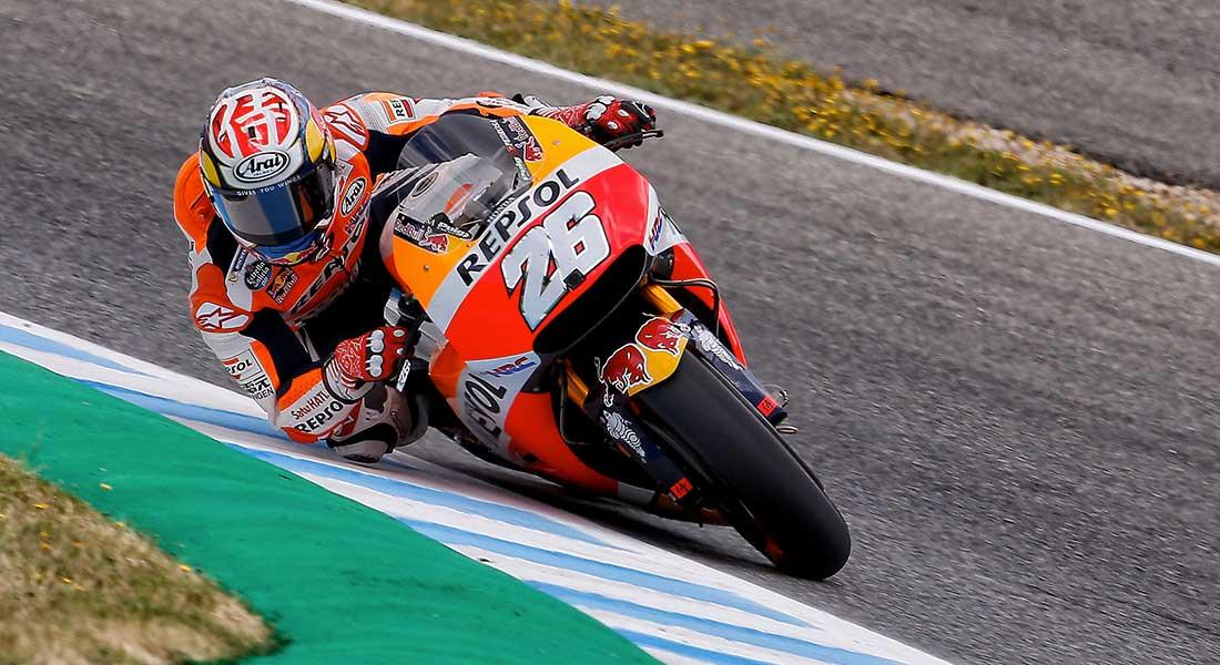 Dani Pedrosa rondando en el Circuito de Jerez/ Box Repsol.