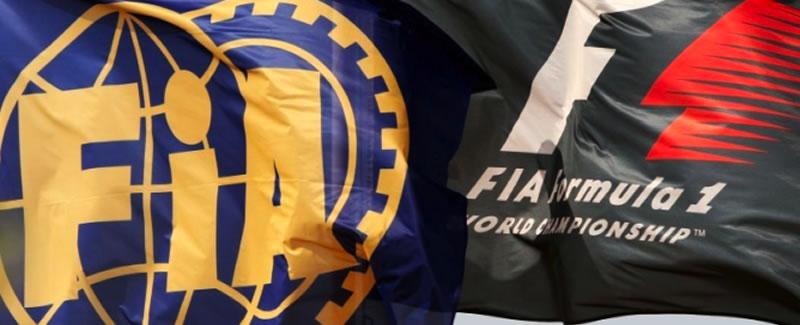 Bandera FIA y F1