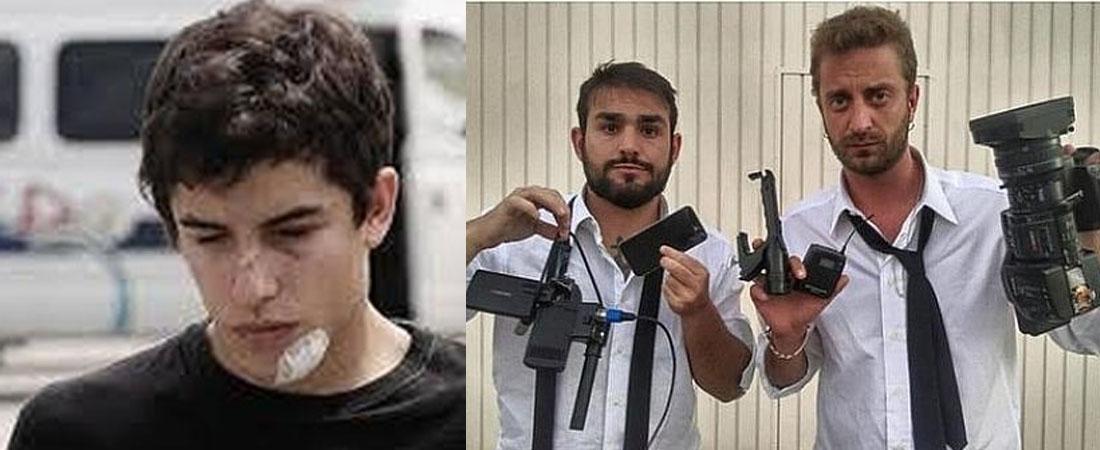 Marc Marquez golpeado por periodistas italianos