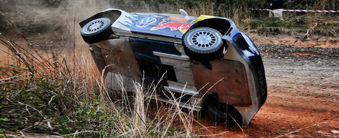 Ogier casi vuelco en Australia WRC