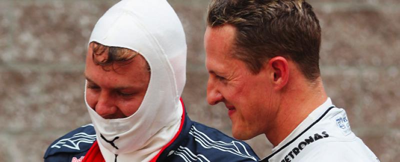 Vettel y Schumacher