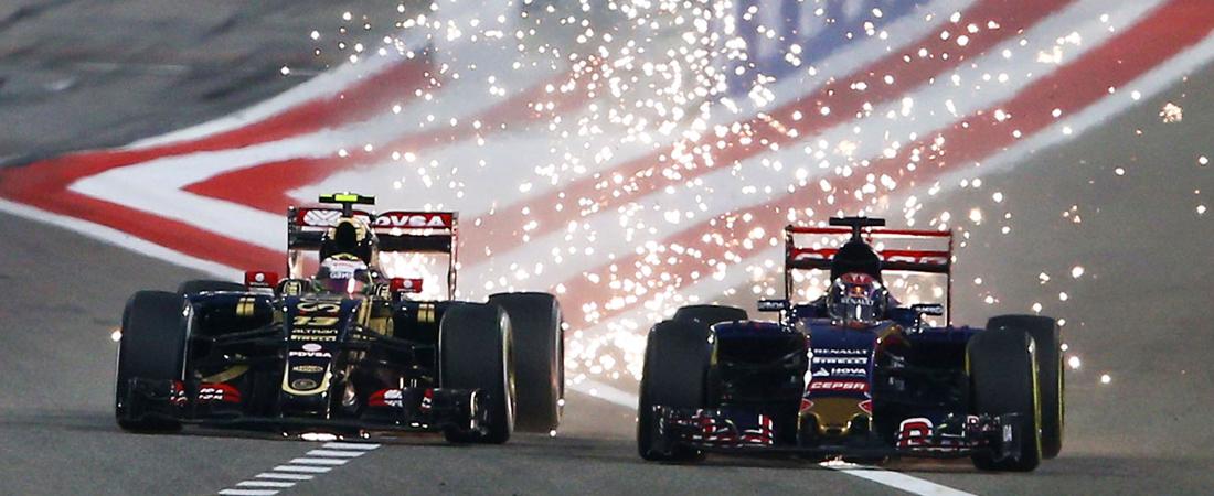 chispas de mentira en la F1